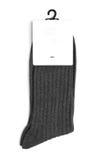 γκρίζο λευκό καλτσών ανα& Στοκ Εικόνες