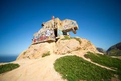 Γκρίζο πάρκο παραλιών όρμων φαλαινών και φωτογραφικών διαφανειών διαβόλων σε Καλιφόρνια Στοκ εικόνα με δικαίωμα ελεύθερης χρήσης