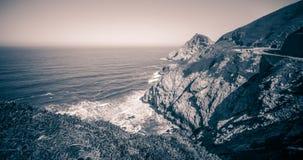Γκρίζο πάρκο παραλιών όρμων φαλαινών και φωτογραφικών διαφανειών διαβόλων σε Καλιφόρνια Στοκ Εικόνα