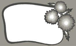 Γκρίζο πλαίσιο με τα αφηρημένα λουλούδια διανυσματική απεικόνιση