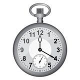 Γκρίζο ρολόι τσεπών. Στοκ Εικόνες