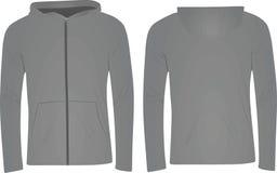 Γκρίζο σακάκι hoodie διανυσματική απεικόνιση