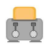 γκρίζο σπίτι συσκευών προγευμάτων φρυγανιέρων ελεύθερη απεικόνιση δικαιώματος