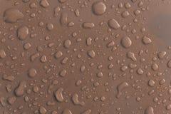 Γκρίζο σταγονίδιο νερού στη στέγη του αυτοκινήτου Στοκ Εικόνες