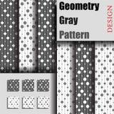 Γκρίζο σχέδιο γεωμετρίας Στοκ Εικόνα
