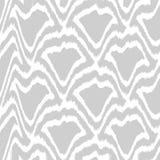 Γκρίζο σχέδιο Ikat Στοκ εικόνα με δικαίωμα ελεύθερης χρήσης
