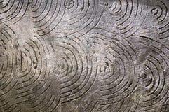 Γκρίζο υπόβαθρο με τους κύκλους και τις σπείρες στοκ εικόνες
