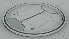 Γκρίζο φουτουριστικό εσωτερικό hardsurface τρισδιάστατη απεικόνιση ελεύθερη απεικόνιση δικαιώματος
