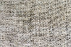 Γκρίζο burlap sackcloth σύσταση ή υπόβαθρο και κενό διάστημα στοκ φωτογραφίες