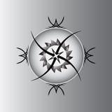 Γκρίζο pentagram Στοκ Εικόνες