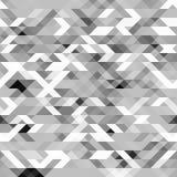 Γκρίζο polygonal άνευ ραφής σχέδιο Φουτουριστική γεωμετρική σύσταση Grayscale διανυσματική απεικόνιση