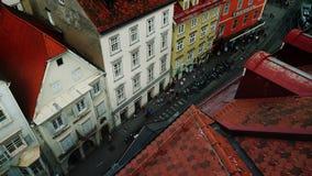 Γκραζ, Αυστρία, τον Ιούνιο του 2017: Στενή οδός της πόλης του Γκραζ κοντά στο Δημαρχείο επάνω από την όψη φιλμ μικρού μήκους