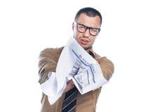 Γκρινιάρης επιχειρηματίας Στοκ εικόνα με δικαίωμα ελεύθερης χρήσης