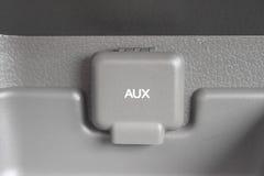 Γκρι λιμένων και κάλυψης Aux με την άσπρη πηγή Στοκ εικόνες με δικαίωμα ελεύθερης χρήσης