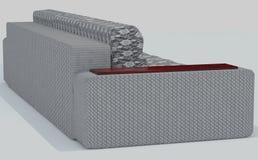 Γκρι καναπέδων - άσπρα 2 στοκ εικόνες