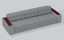 Γκρι καναπέδων - άσπρα 4 στοκ φωτογραφίες με δικαίωμα ελεύθερης χρήσης