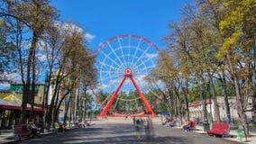 Γκόρκυ Central Park του πολιτισμού και του ελεύθερου χρόνου σε Kharkov timelapse hyperlapse, Ουκρανία φιλμ μικρού μήκους