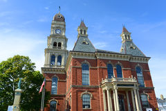 Γκλούτσεστερ Δημαρχείο, Μασαχουσέτη, ΗΠΑ Στοκ Εικόνα