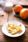 γλασαρισμένα πορτοκαλιά λουριά arancini Στοκ εικόνες με δικαίωμα ελεύθερης χρήσης
