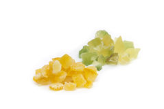 Γλασαρισμένη φλούδα λεμονιών και γλασαρισμένη πορτοκαλιά φλούδα Στοκ Εικόνες