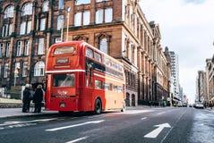 Γλασκώβη, Σκωτία, UK †«στις 9 Μαρτίου 2018: : Κόκκινο Bu του διάσημου Λονδίνου στοκ εικόνες