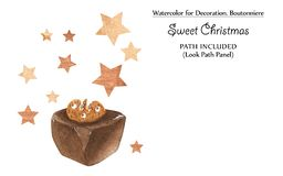 Γλυκά σύντομα χρονογραφήματα με τις σοκολάτες και τα χρυσά σημεία διανυσματική απεικόνιση