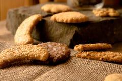 Γλυκά τραγανά μπισκότα του διαφορετικού γούστου στοκ εικόνες με δικαίωμα ελεύθερης χρήσης