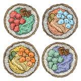 Γλυκά τρόφιμα επιδορπίων καρύδων Στοκ εικόνα με δικαίωμα ελεύθερης χρήσης