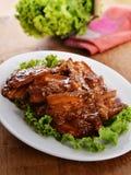 Γλυκά χοιρινό κρέας με το λαχανικό στοκ εικόνες με δικαίωμα ελεύθερης χρήσης
