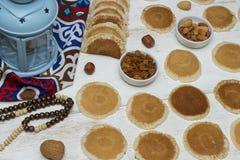 Γλυκά Ramadan - Qatayef στοκ φωτογραφίες