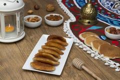 Γλυκά Ramadan - Qatayef στοκ φωτογραφία