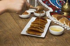 Γλυκά Ramadan - Qatayef στοκ εικόνα