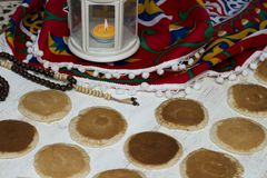 Γλυκά Ramadan - Qatayef στοκ εικόνες
