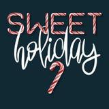 Γλυκές διακοπές - δημιουργική αφίσα Στοκ εικόνες με δικαίωμα ελεύθερης χρήσης