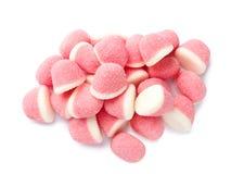 Γλυκές καραμέλες ζελατίνας χρώματος που απομονώνονται στο λευκό στοκ εικόνες