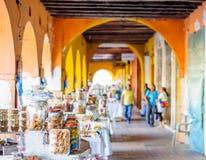 Γλυκιά αγορά από Portal de Los Dulces στην Καρχηδόνα - την Κολομβία Στοκ Εικόνα