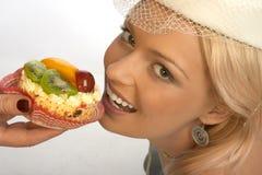 γλυκιά γυναίκα δοντιών στοκ εικόνες