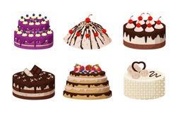 Γλυκιά διανυσματική απεικόνιση αφισών συλλογής αρτοποιείων Στοκ Εικόνες