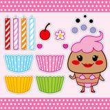 Γλυκιά κούκλα εγγράφου Cupcake Στοκ Εικόνες