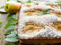 Γλυκιά πίτα αχλαδιών Στοκ Εικόνα