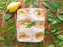 Γλυκιά πίτα αχλαδιών Στοκ Φωτογραφία