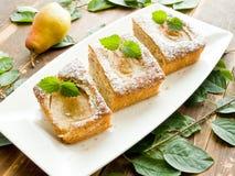Γλυκιά πίτα αχλαδιών Στοκ εικόνα με δικαίωμα ελεύθερης χρήσης