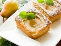 Γλυκιά πίτα αχλαδιών Στοκ Φωτογραφίες