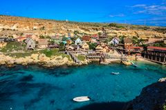 Γλυκιά ταινία λιμανιών που τίθεται στο μεσογειακό νησί της Μάλτας στοκ φωτογραφία με δικαίωμα ελεύθερης χρήσης