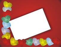 γλυκοί βαλεντίνοι καρδιών ημέρας καρτών Στοκ εικόνα με δικαίωμα ελεύθερης χρήσης