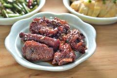 Γλυκόπικρα πλευρά χοιρινού κρέατος στοκ εικόνες