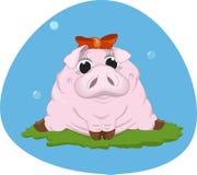 Γλυκός ρόδινος piggy επίσης corel σύρετε το διάνυσμα απεικόνισης διανυσματική απεικόνιση