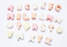 γλυκό αλφάβητου στοκ φωτογραφίες