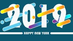 Γλυκό διάνυσμα καλής χρονιάς 2019 στοκ φωτογραφίες με δικαίωμα ελεύθερης χρήσης