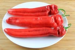γλυκό εικόνων πιπεριών πιάτ&o Στοκ φωτογραφία με δικαίωμα ελεύθερης χρήσης
